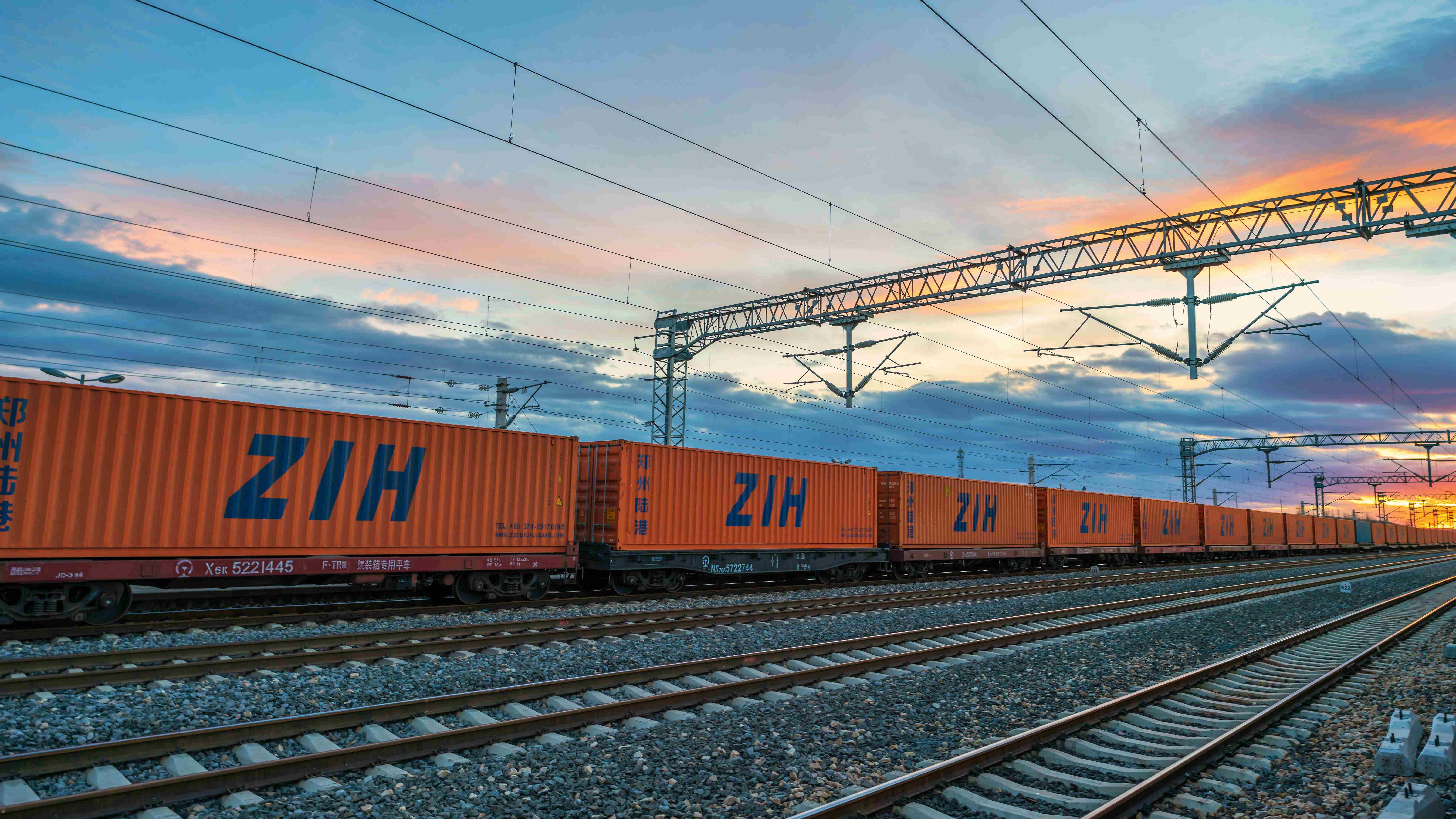 Number of China-Europe freight trains in central China rises