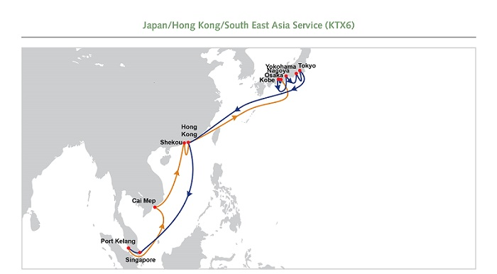 ​OOCL announces enhancement of the current Japan Services – KTX6